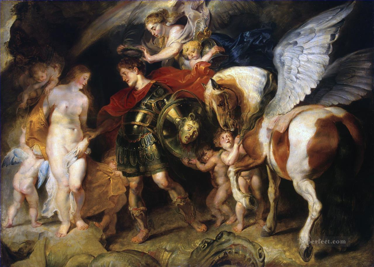 Perseus and Andromeda Baroque Peter Paul Rubens Oil Paintings