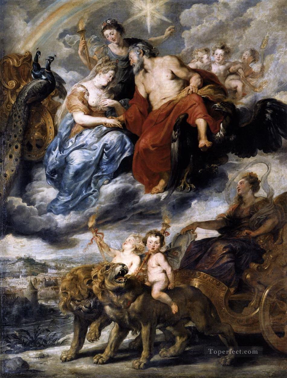 the meeting of the king and marie de medici at lyons 9th november 1600 1625 Peter Paul Rubens Oil Paintings