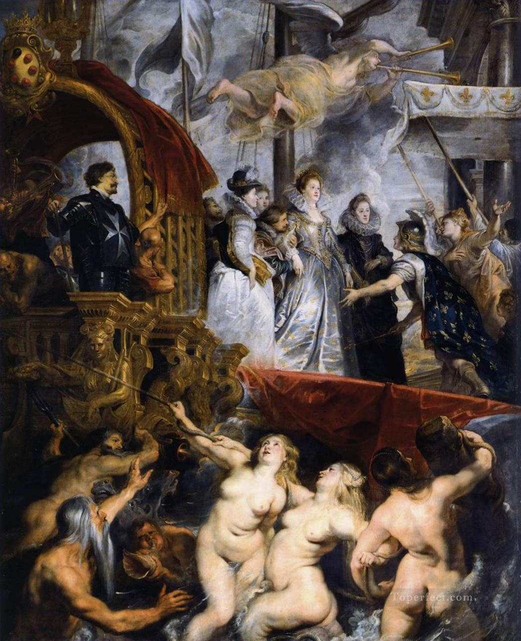 The Landing of Marie de Medici at Marseilles Baroque Peter Paul Rubens Oil Paintings