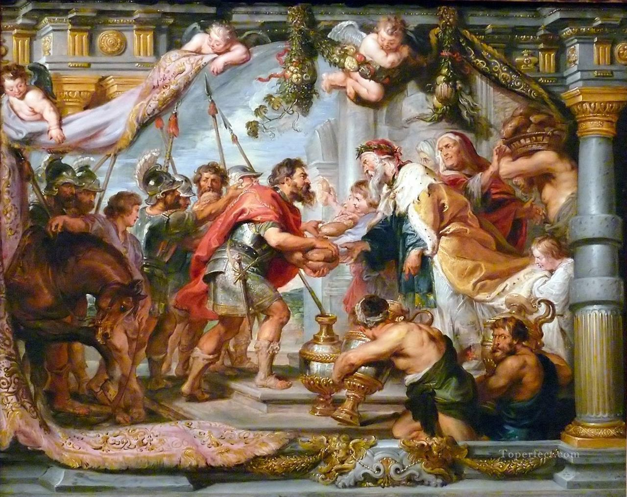 The Meeting of Abraham and Melchizedek Baroque Peter Paul Rubens Oil Paintings