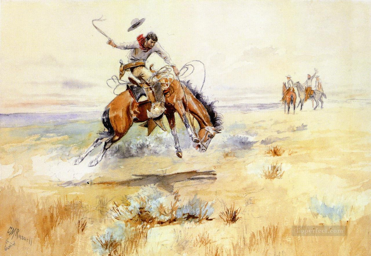 the bronco buster 1894 Charles Marion Russell Oil Paintings