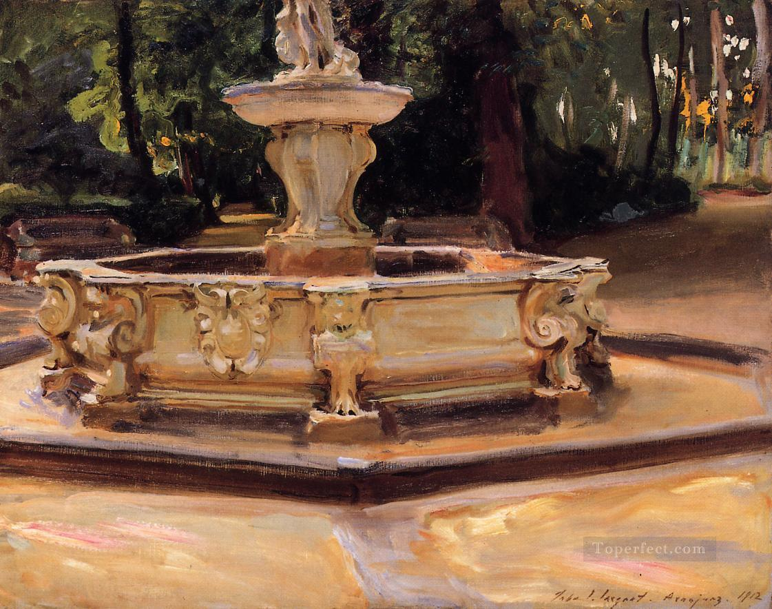 A Marble fountain at Aranjuez Spain John Singer Sargent Oil Paintings
