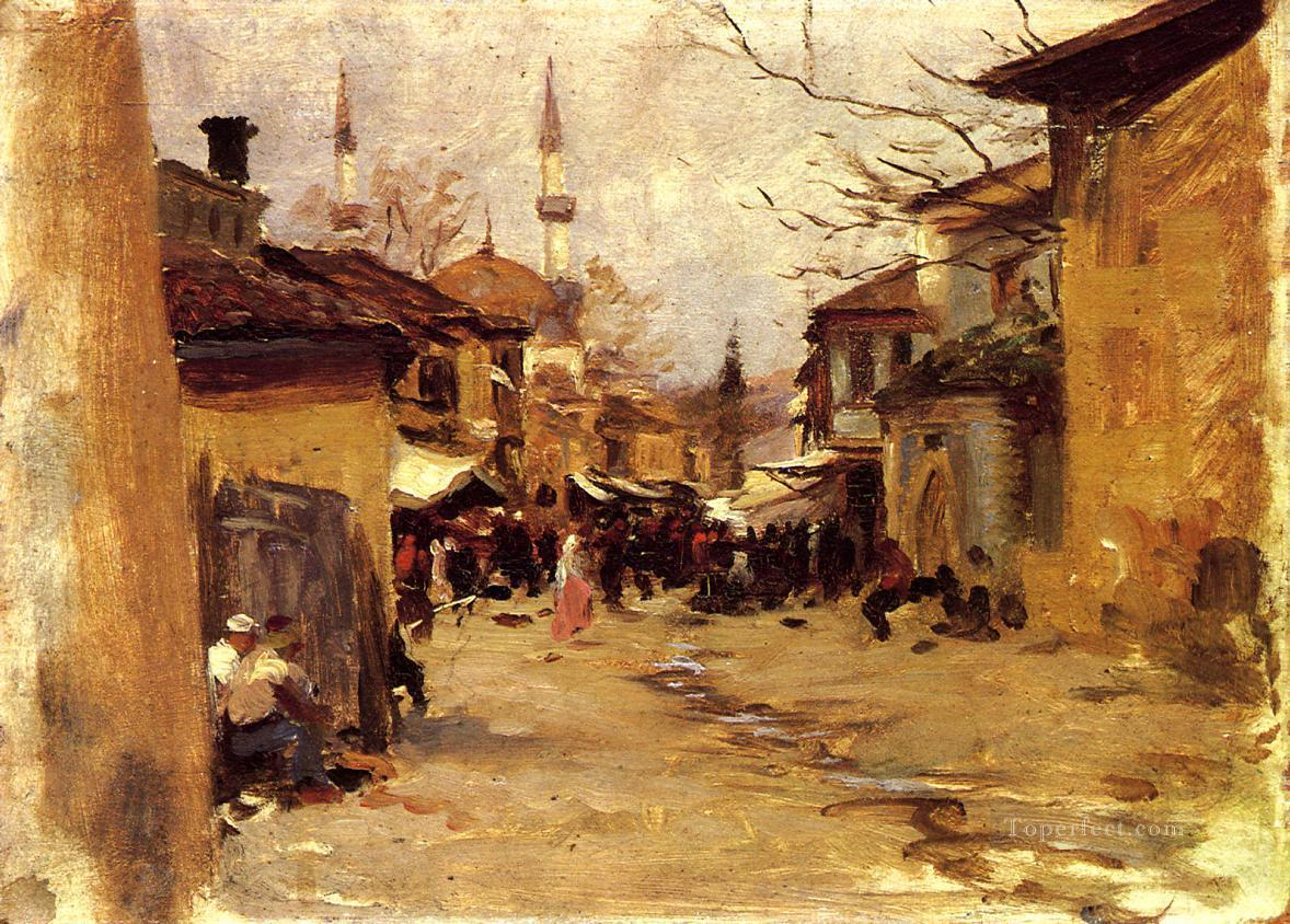 Arab Street Scene John Singer Sargent Oil Paintings
