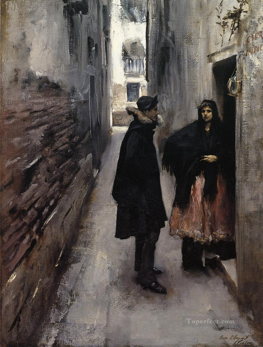 A Street in Venice John Singer Sargent Oil Paintings