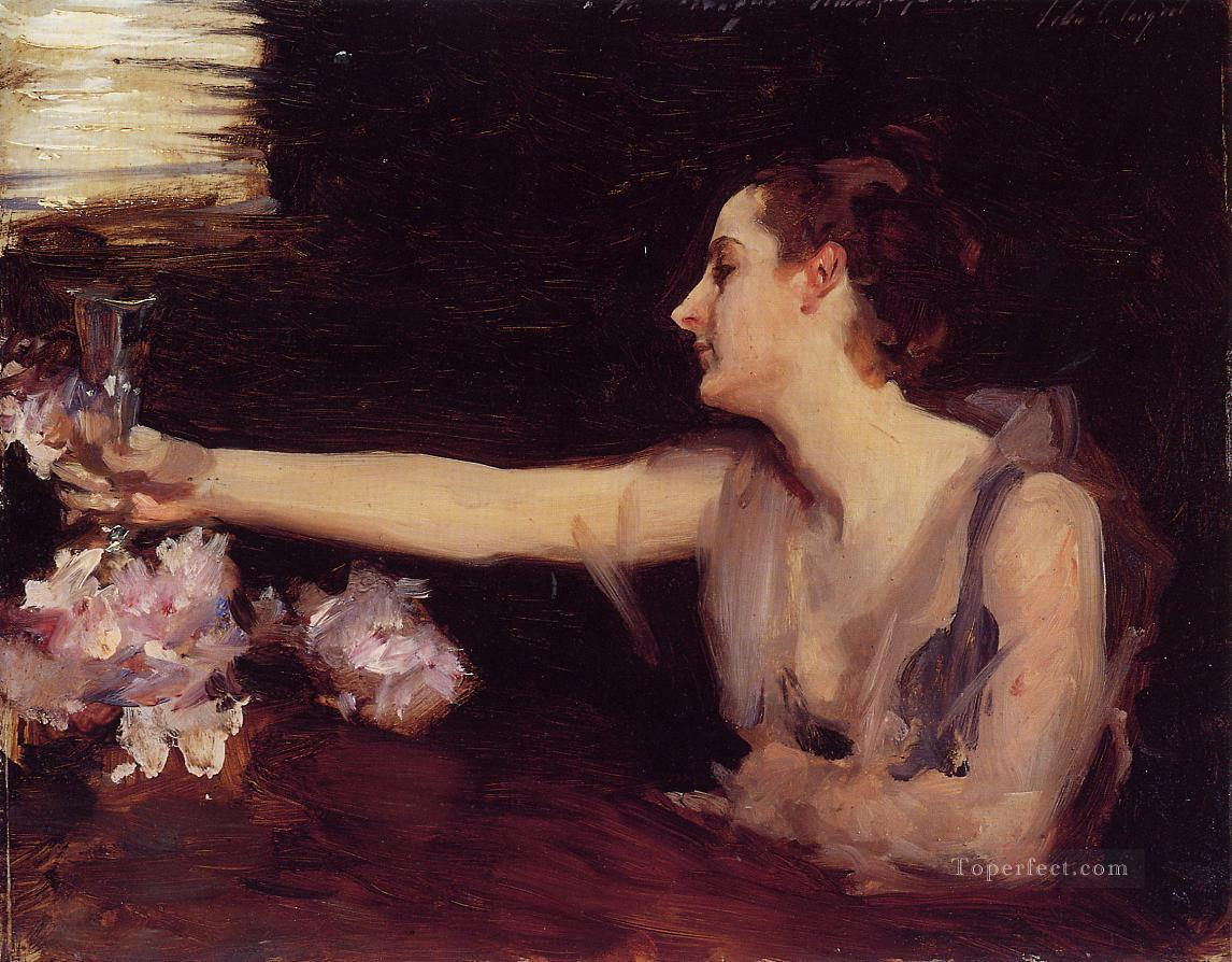 Madame Gautreau Drinking a Toast portrait John Singer Sargent Oil Paintings