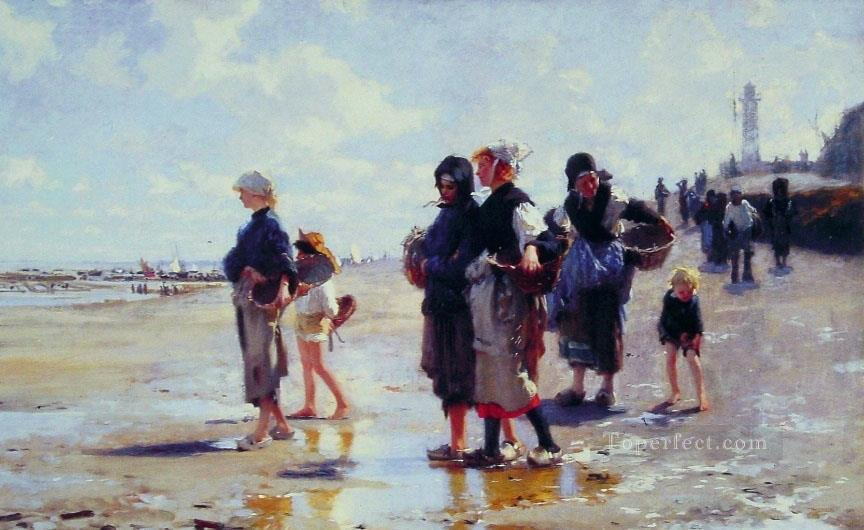Oyster Gatherers of Cancale John Singer Sargent Oil Paintings