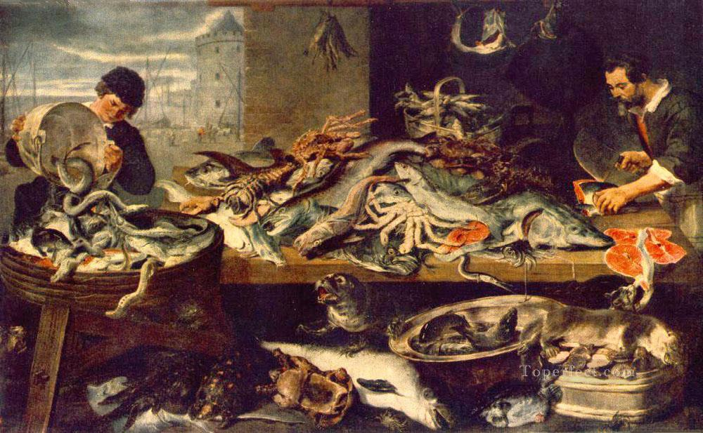 Fish Shop still life Frans Snyders Oil Paintings