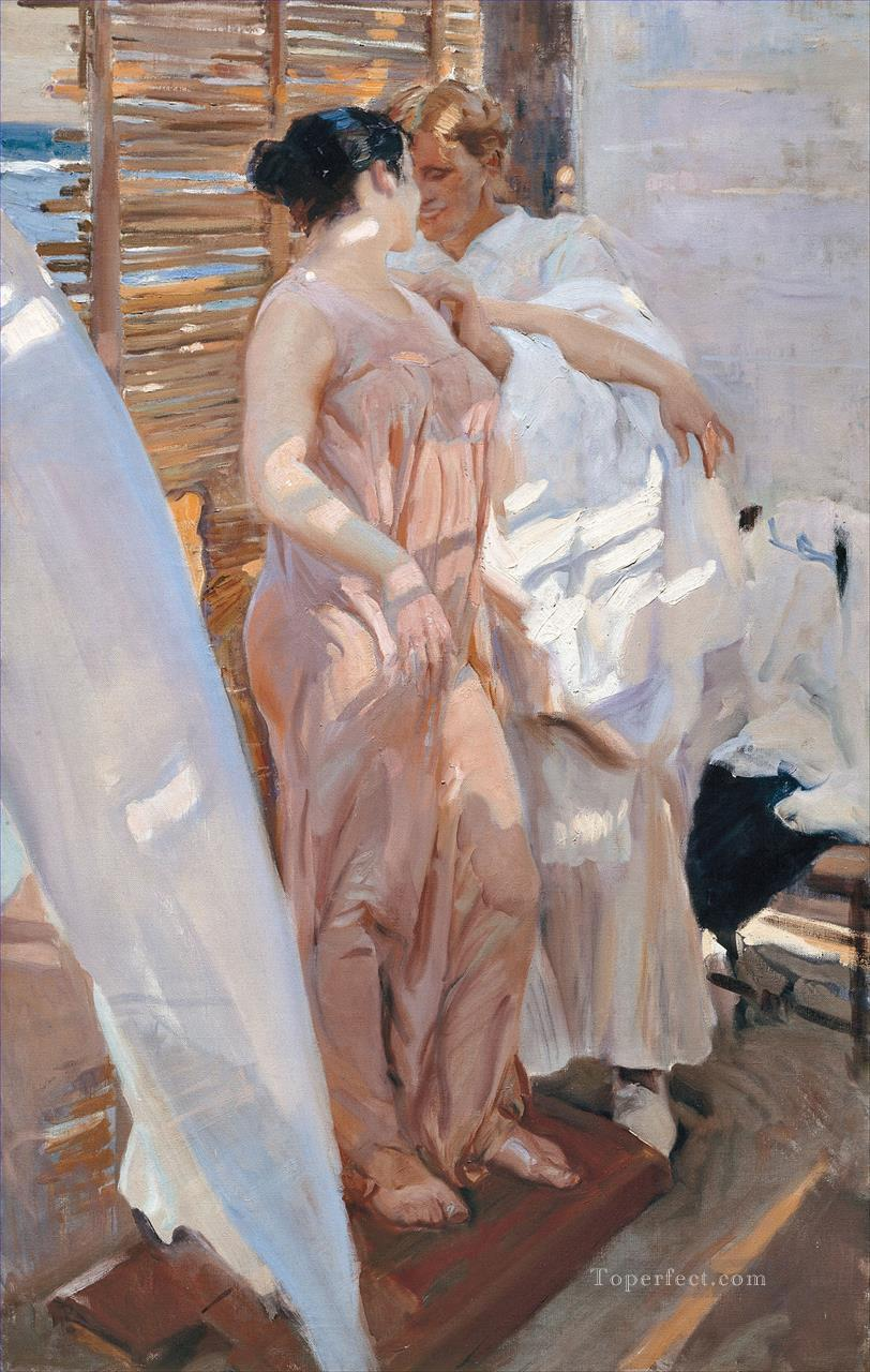 La Bata Rosa painter Joaquin Sorolla Oil Paintings