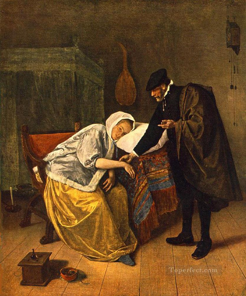 The Doctor And His Patient Dutch genre painter Jan Steen