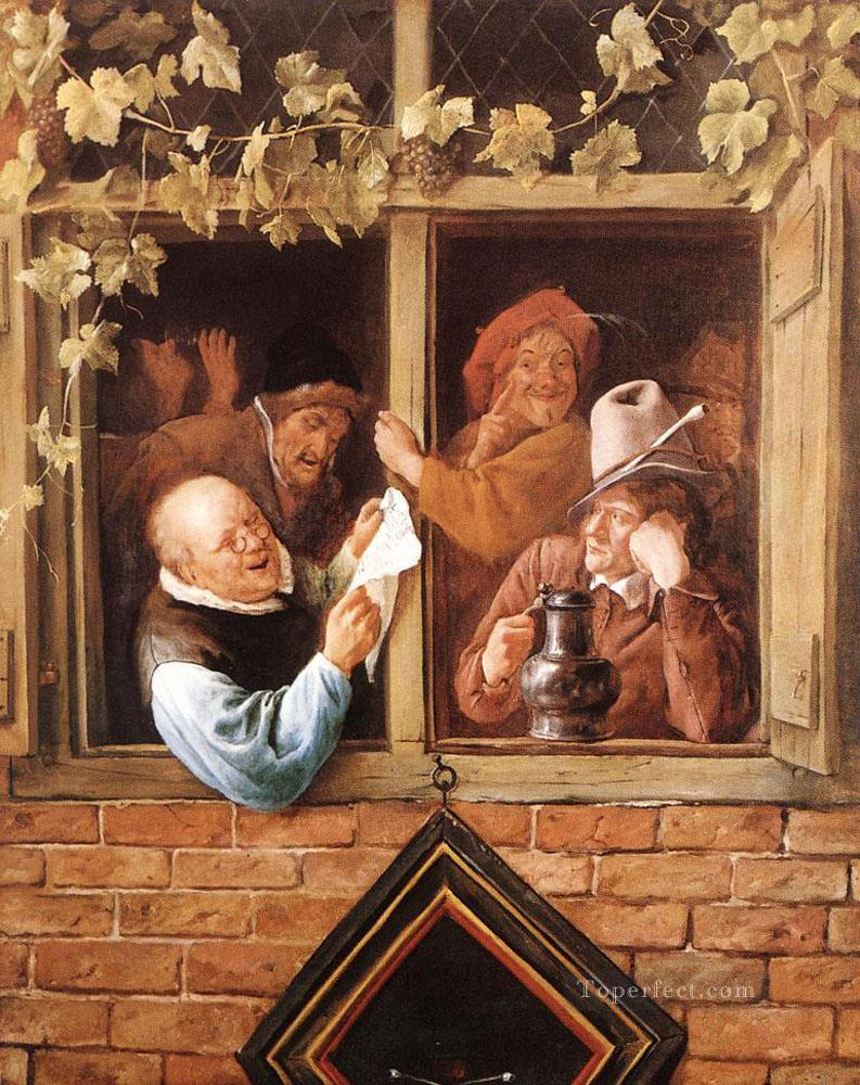 Rhetoricians At A Window Dutch genre painter Jan Steen Oil Paintings