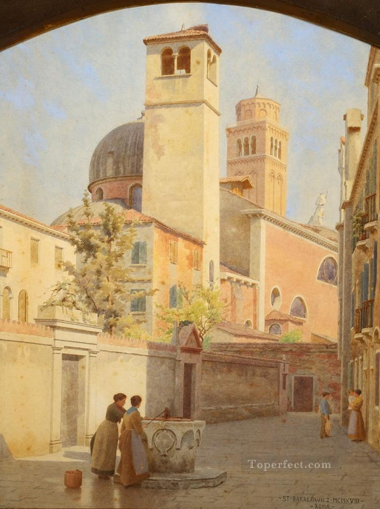 fetch water Stephan Bakalowicz Ancient Rome Oil Paintings