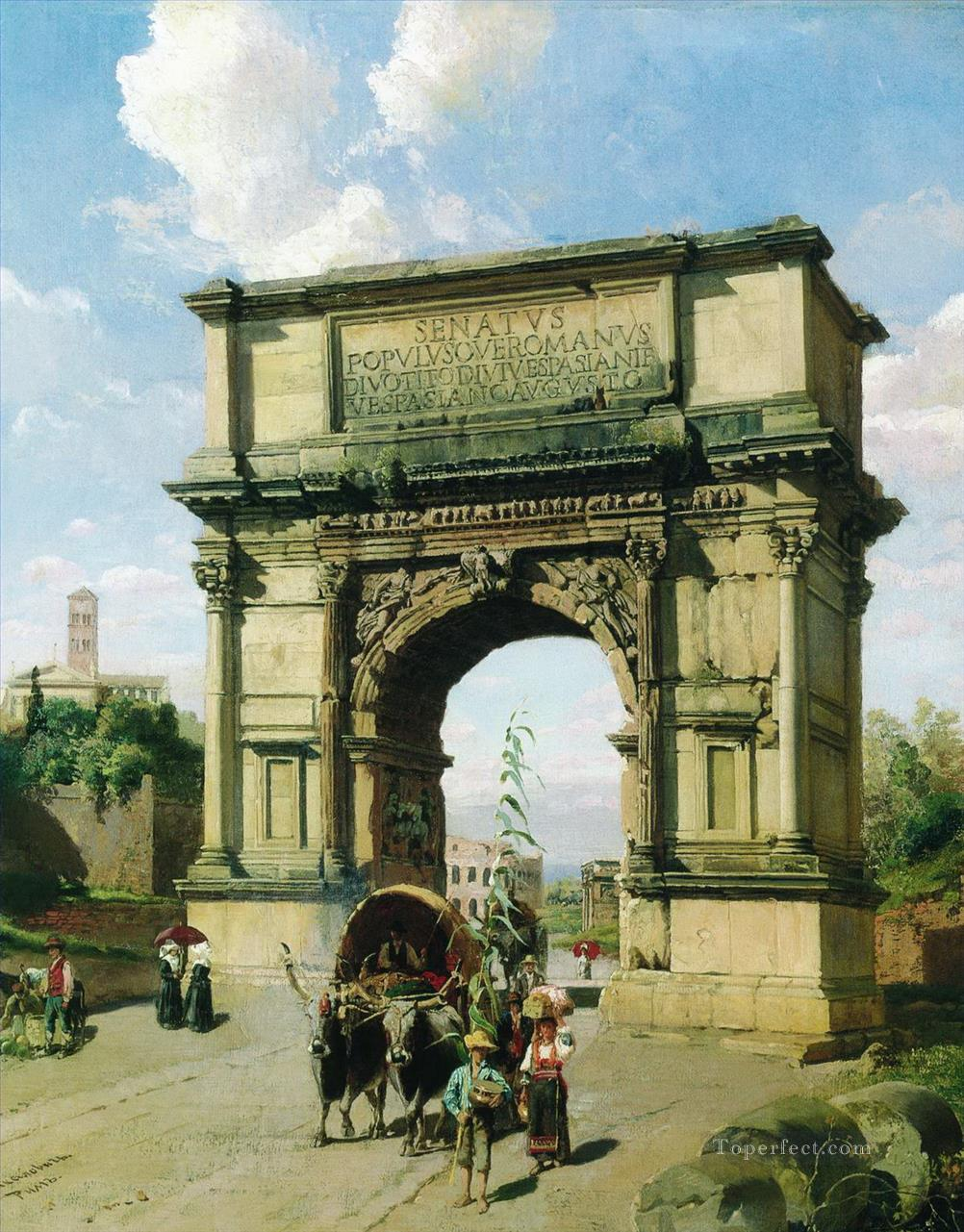 Arch of Titus Rome Stephan Bakalowicz Ancient Rome Oil Paintings