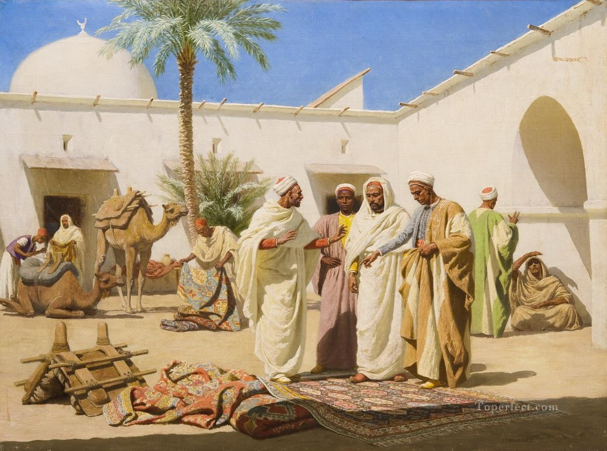 carpet seller Stephan Bakalowicz Oil Paintings