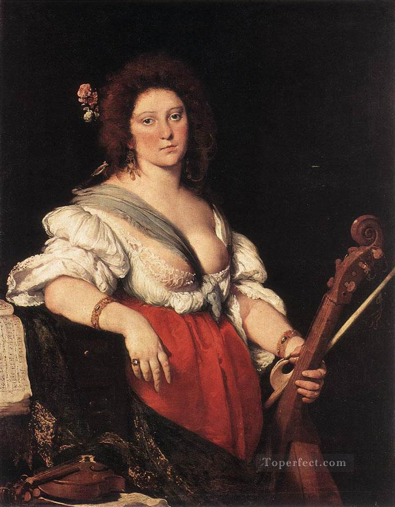 Gamba Player Italian Baroque Bernardo Strozzi Oil Paintings