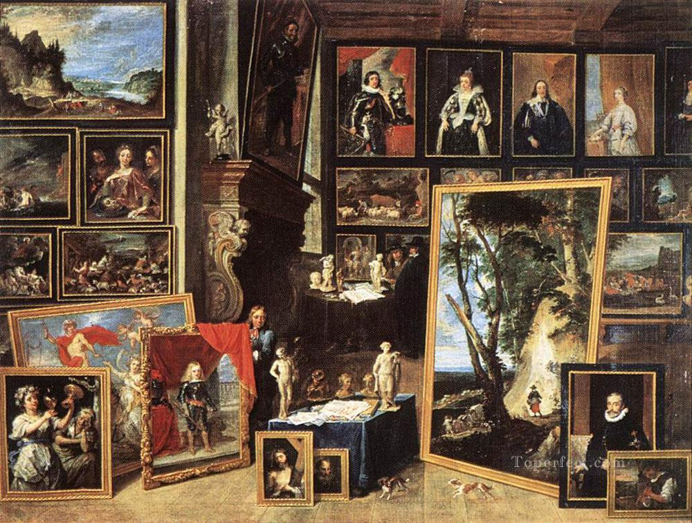 The Gallery Of Archduke Leopold In Brussels 1641 David Teniers the Younger Oil Paintings