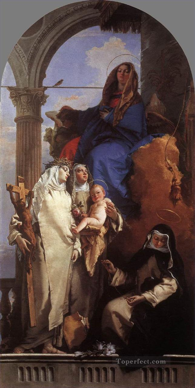 The Virgin Appearing to Dominican Saints Giovanni Battista Tiepolo Oil Paintings