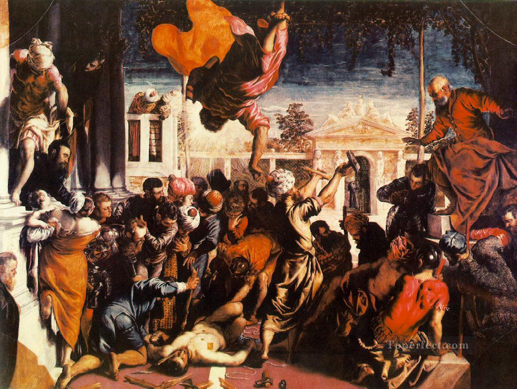 The Miracle of St Mark Freeing the Slave Italian Renaissance Tintoretto Oil Paintings