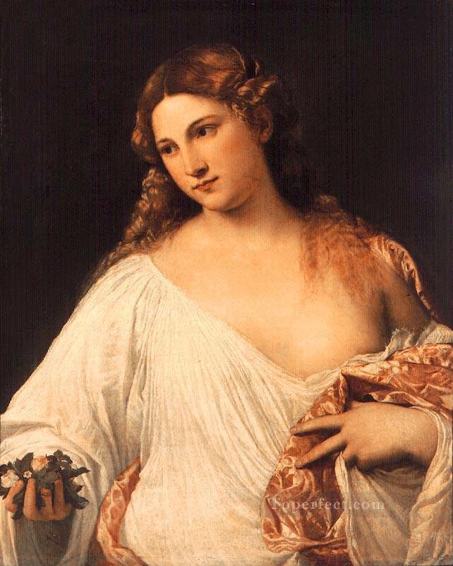Flora Tiziano Titian Oil Paintings