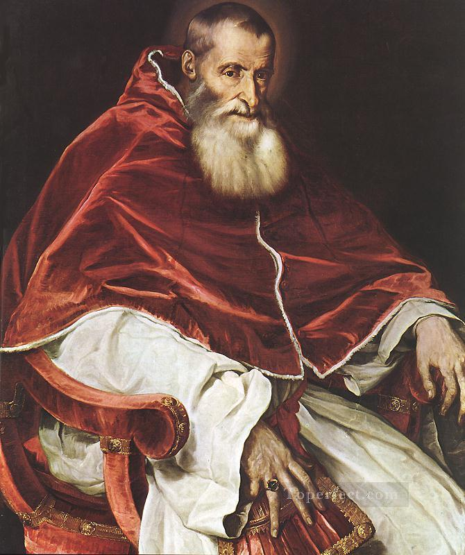 Portrait of Pope Paul III Tiziano Titian Oil Paintings