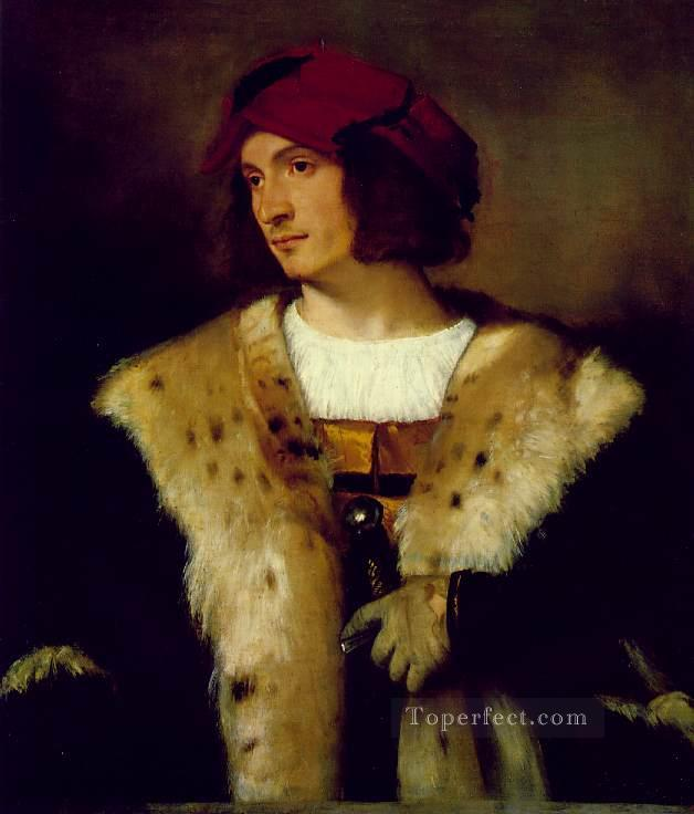 Portrait of a Man in a Red Cap Tiziano Titian Oil Paintings