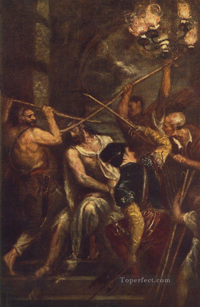 Crowning with Thorns Tiziano Titian Oil Paintings