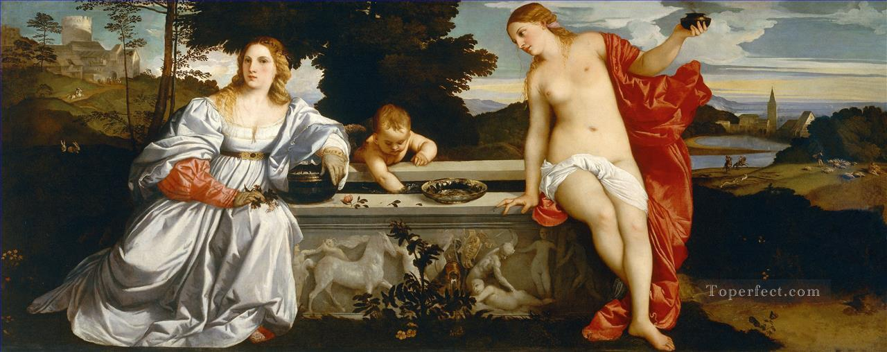 Sacred and Profane Love Tiziano Titian Oil Paintings