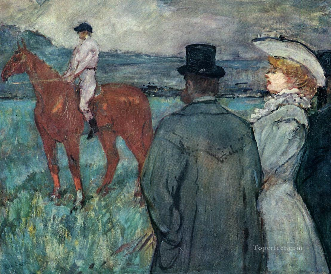 at the races 1899 Toulouse Lautrec Henri de Oil Paintings