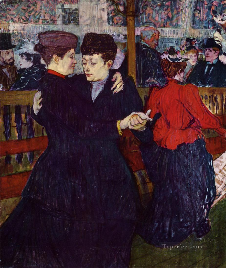 At the Moulin Rouge the Two Waltzers post impressionist Henri de Toulouse Lautrec Oil Paintings
