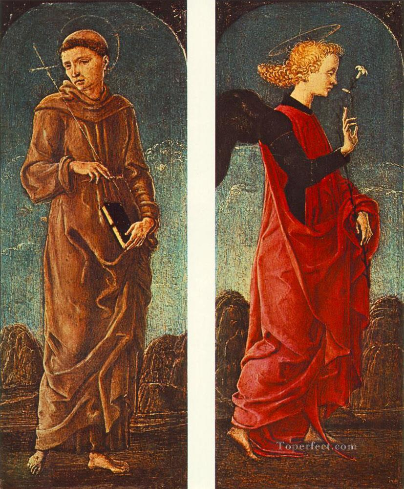 St Francis Of Assisi And Announcing Angel Cosme Tura Oil Paintings