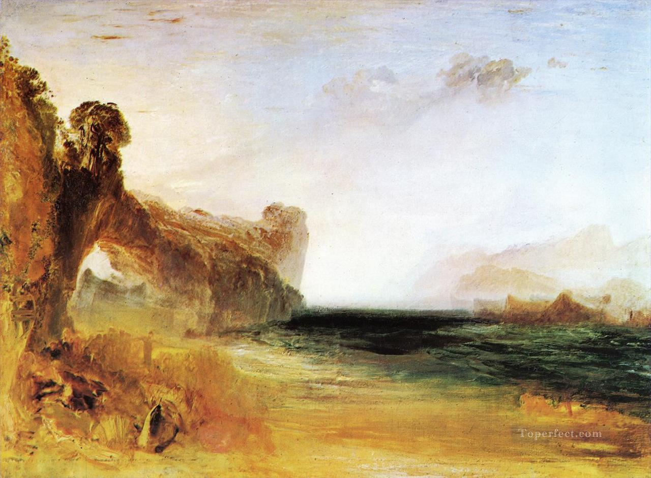 Rocky Bay with Figures Romantic Turner Oil Paintings