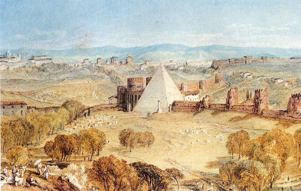 Rome From Monte Testaccio Romantic Turner Oil Paintings