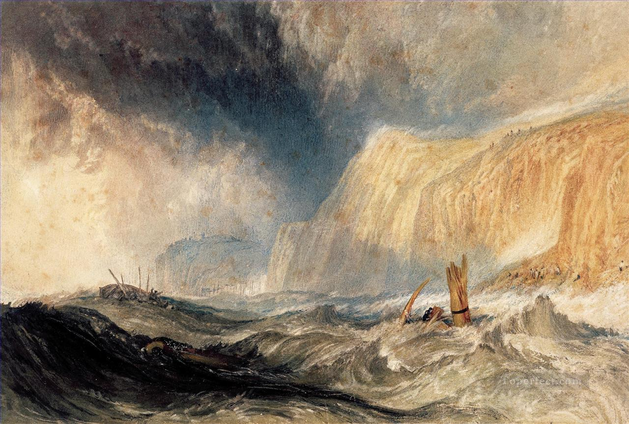Shipwreck off Hastings Turner Oil Paintings