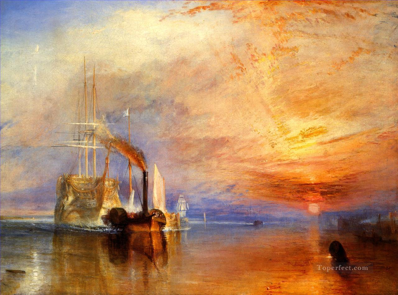 The fightingTemerairetugged to her last Berth to be broken up Romantic Turner Oil Paintings