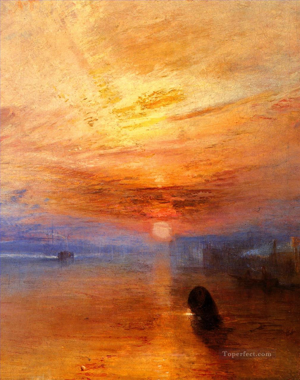 The fightingTemerairetugged to her last Berth to be broken up landscape Turner Oil Paintings