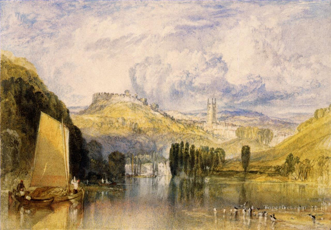 Totnes in the River Dart Romantic Turner Oil Paintings