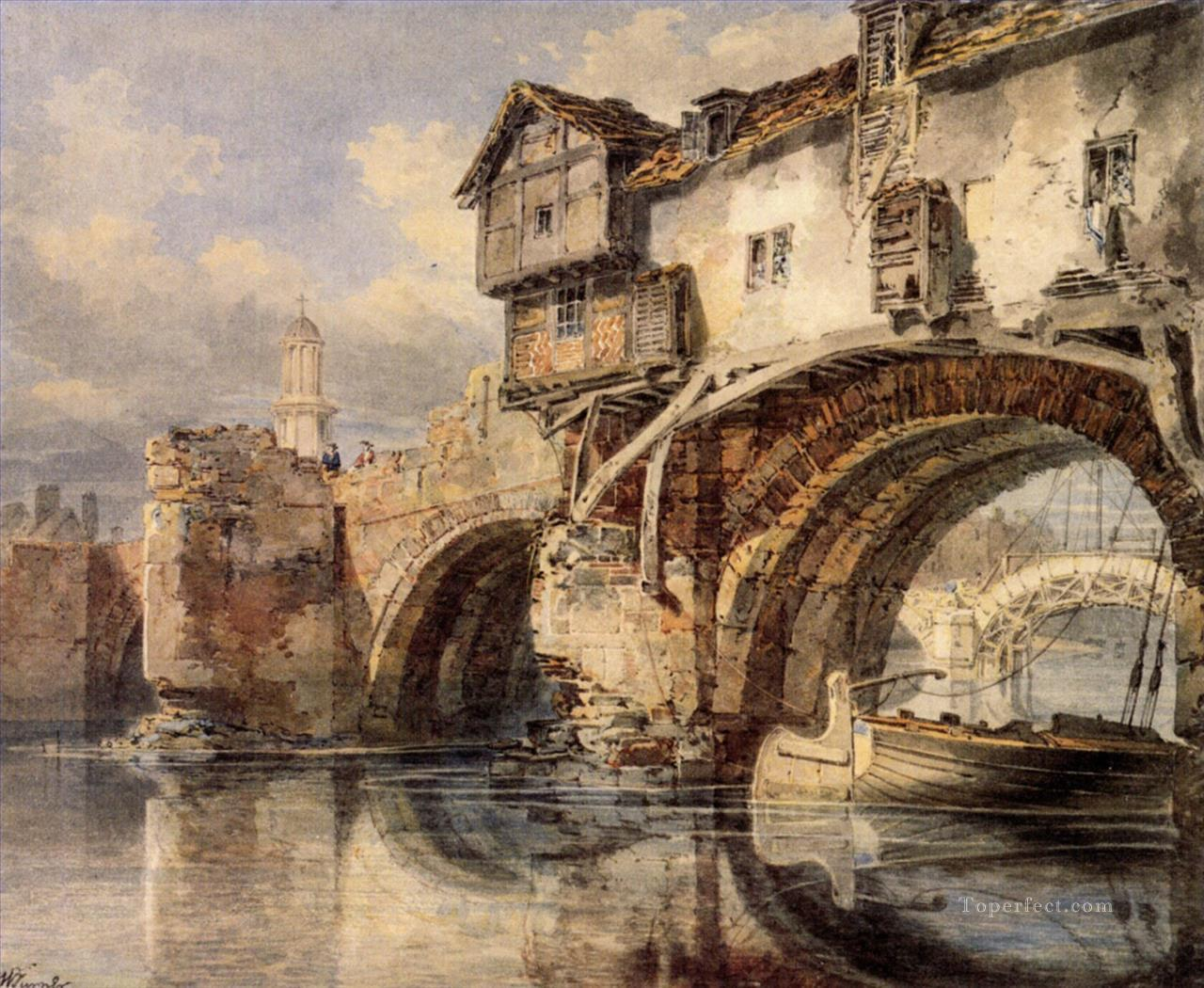 Welsh Bridge at Shrewsbury Romantic Turner Oil Paintings