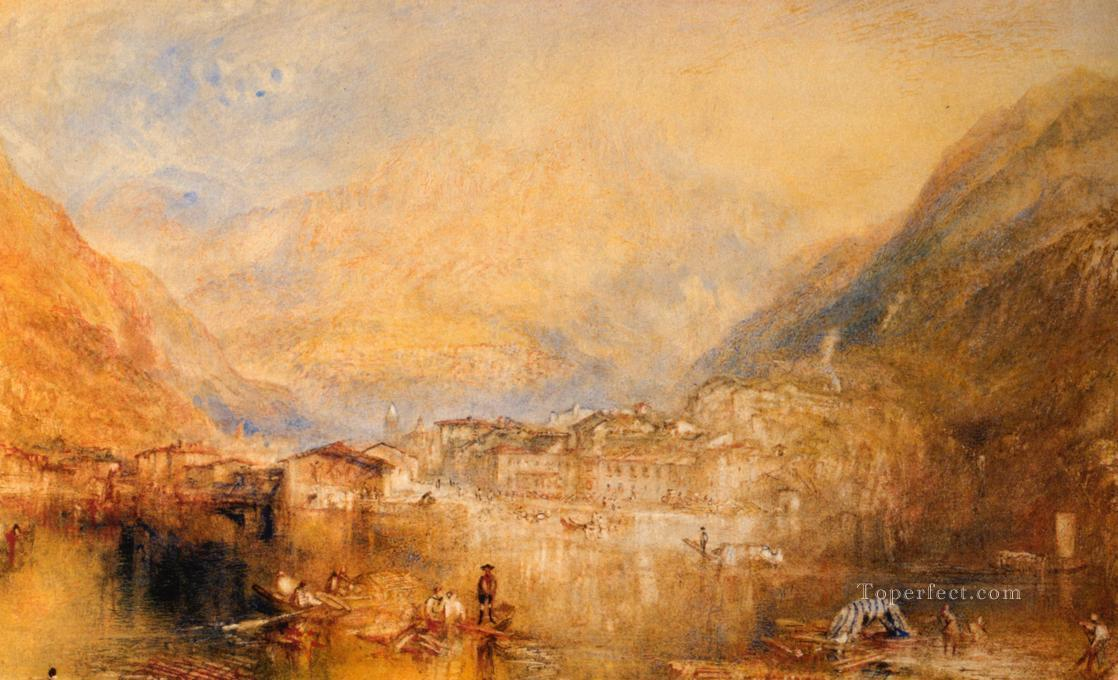 Brunnen from the Lake of Lucerne Romantic Turner Oil Paintings