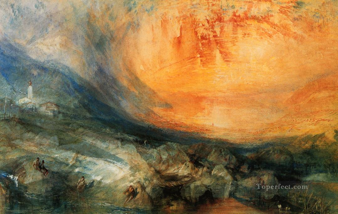 Goldau Romantic Turner Oil Paintings