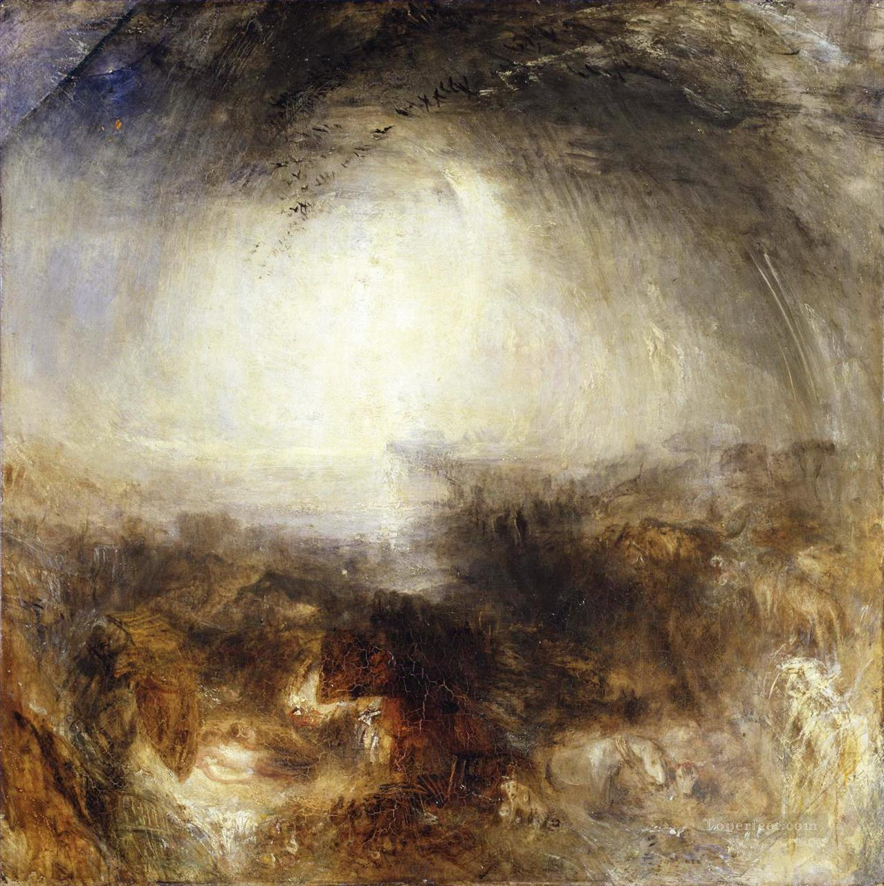 Shade and Darkness The Evening of The Deluge Turner Oil Paintings
