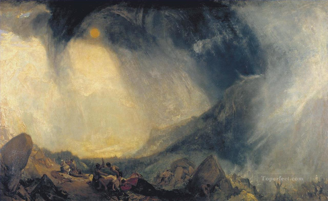 Snow Storm Hannibal and His Army Crossing the Alps landscape Turner Oil Paintings