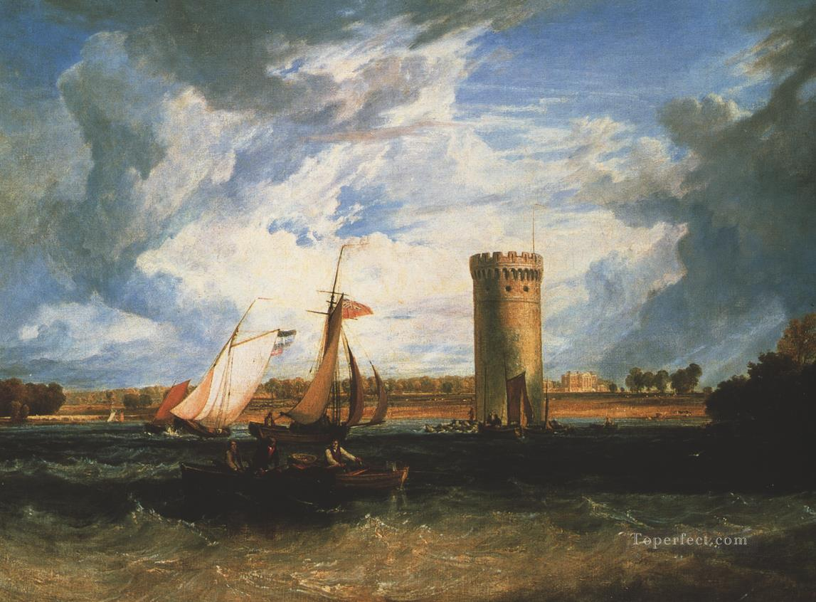 Tabley the Seat of Sir JF Leicester Romantic Turner Oil Paintings