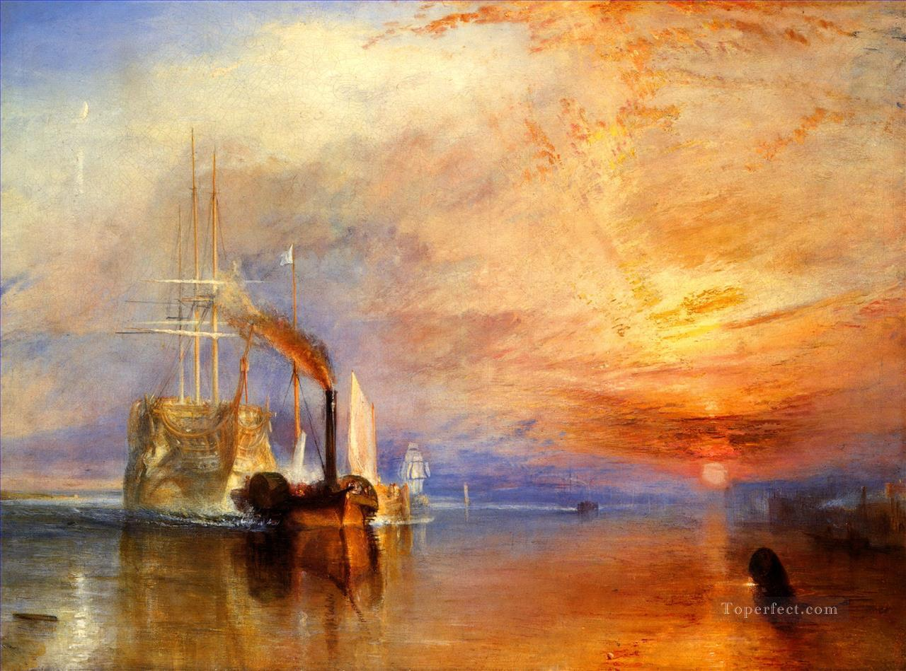 The Fighting Temeraire Tugged to her Last Berth to be Broken up Turner Oil Paintings