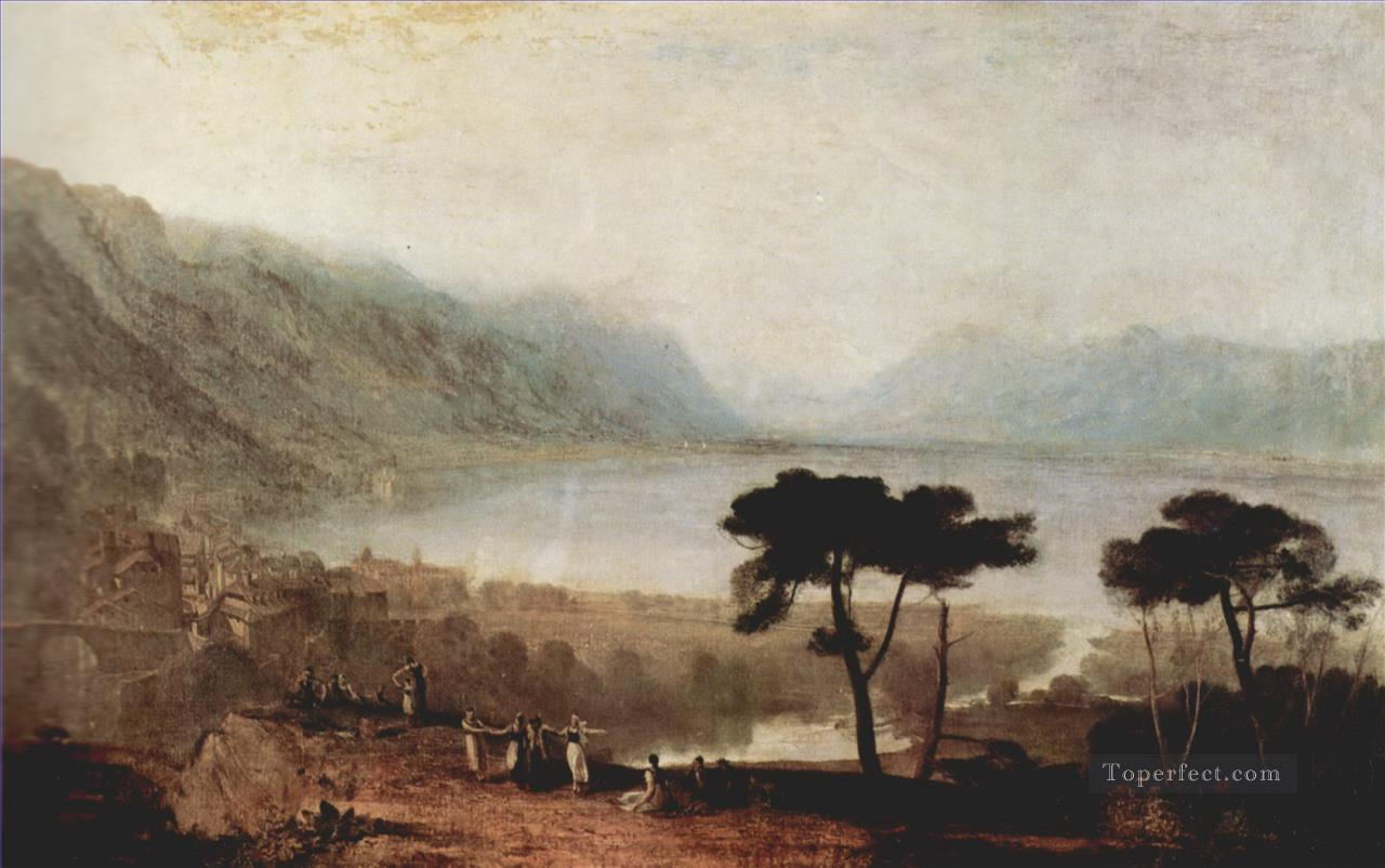 The Lake Geneva seen from Montreux Turner Oil Paintings