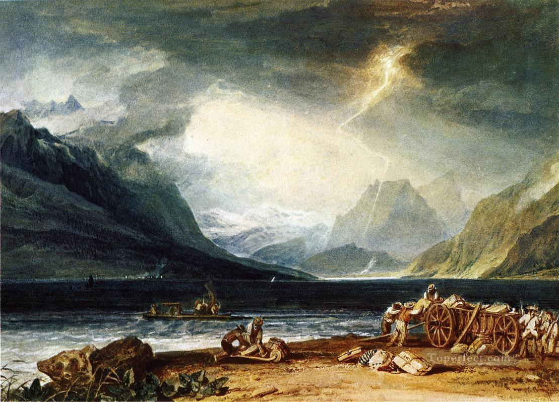 The Lake of Thun Switzerland Romantic Turner Oil Paintings