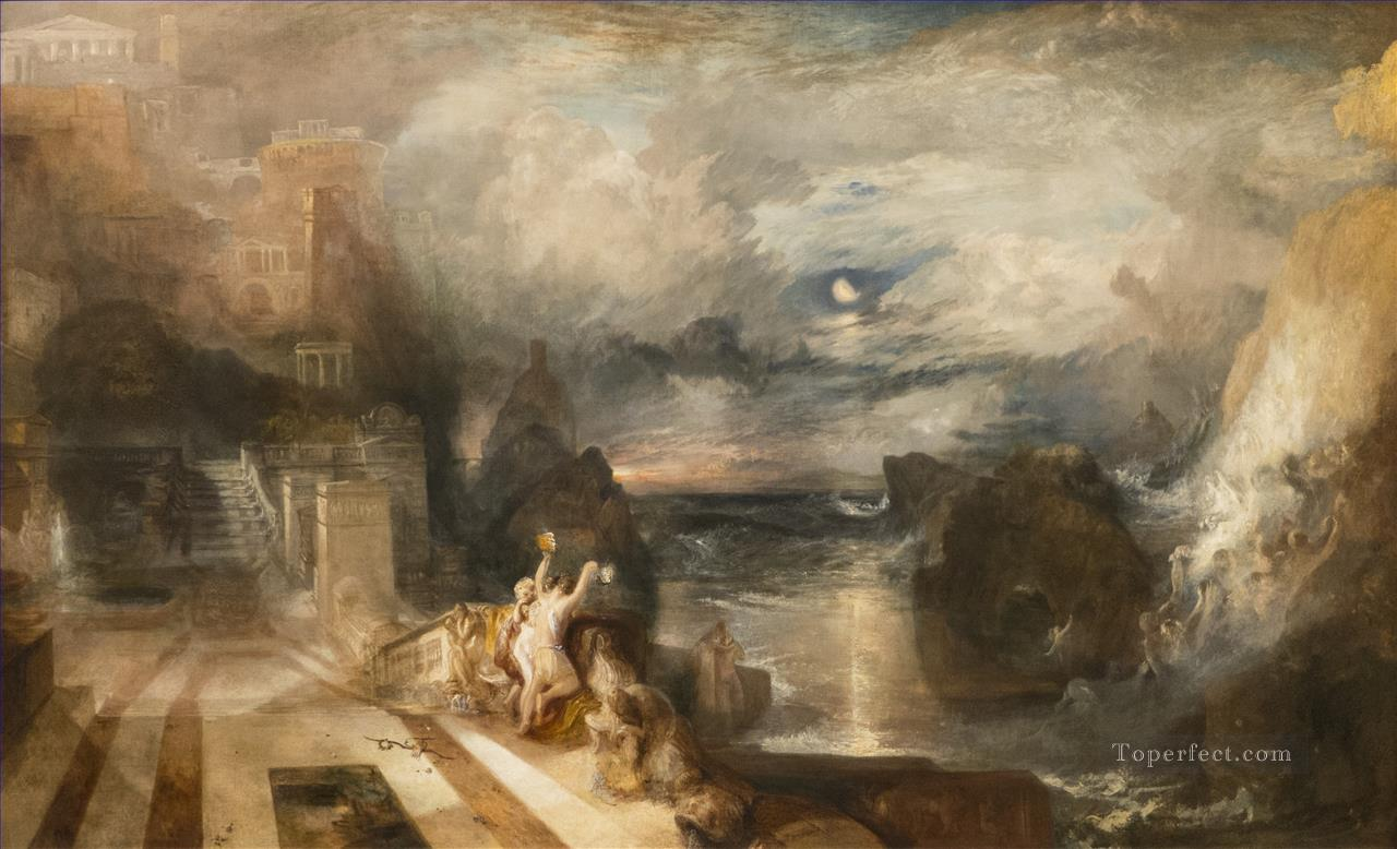The Parting of Hero and Leander from the Greek of Musaeus landscape Turner Oil Paintings