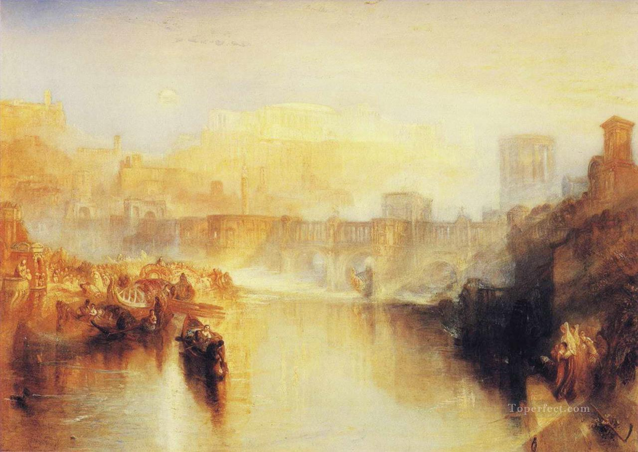 Ancient Rome Agrippina Landing with the Ashes of Germanicus Turner Oil Paintings