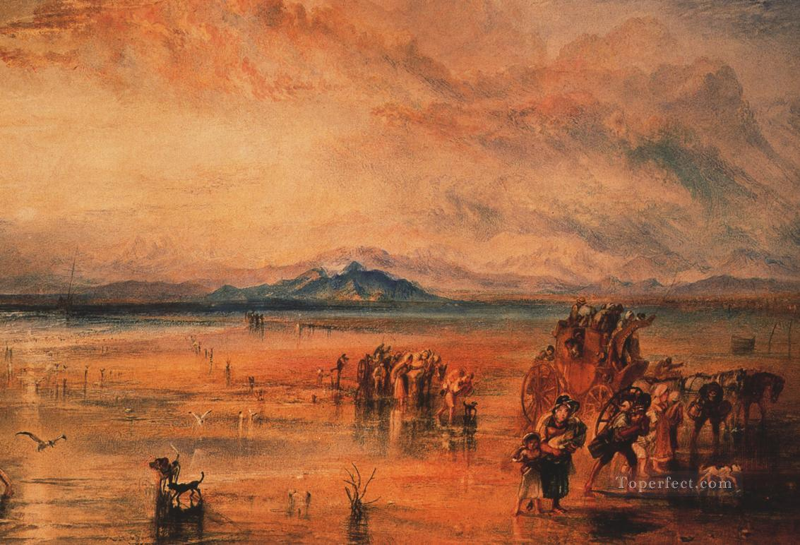 Lancaster Sands Romantic Turner Oil Paintings