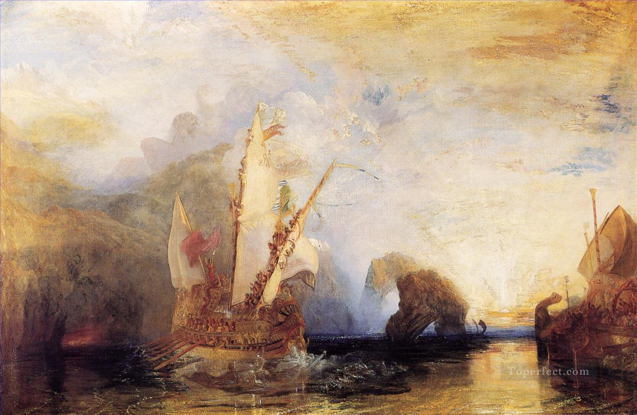Ulysses Deriding Polyphemus Homers Odyssey Landscape Turner Oil Paintings