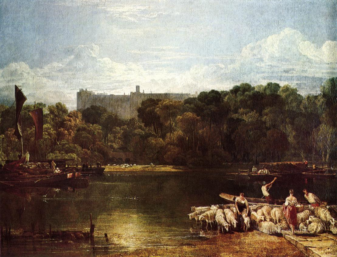 Windsor Castle from the Thames Romantic Turner Oil Paintings