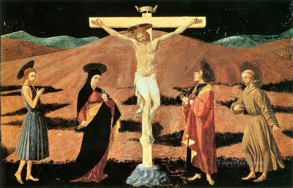 Crucifixion early Renaissance Paolo Uccello Oil Paintings